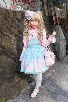 Sweet Lolita & Graffiti in Harajuku by tokyofashion, via Flickr