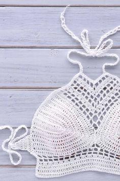 Bikini costume da bagno uncinetto Set Crochet di InoriCreations