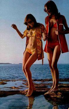 L'officiel magazine 1970s beachwear | Repinned by Temple Towels & Swim, www.templetowels.com