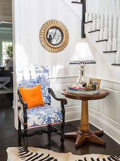 A stately silhouette makes the Louis XIV armchair a focal point wherever it's placed. Photo byLesley Unruh.