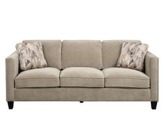 ONE IN STOCK - Pocus Warm Granite Sofa with Nailhead: 85.8L x 37W x 35.4H- Rent: $88; Buy: $589