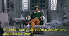 "Who is Papa Elf talking to in the opening scene? | 17 Questions ""Elf"" Left Unanswered"