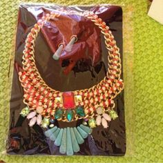 Statement  necklace Multi  color  statement necklace Jewelry Necklaces