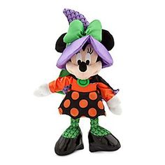 Disney Minnie Mouse Plush - Halloween - Small - 9'' | Disney StoreMinnie Mouse Plush - Halloween - Small - 9'' - Minnie Mouse is brewing up toil and trouble in her adorable witch costume for Halloween. Wearing a spooky polka dot skirt, cape and hat with bow and ribbon, Minnie always keeps her signature style even while out trick-or-treating!