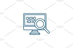 Vector Website, Report Design, Line Icon, Flat, Illustration, Concept, Creative, Bass, Illustrations