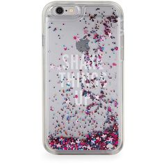 Kate Spade New York Shake Things Up Clear Glitter iPhone 6 Case ($50) ❤ liked on Polyvore featuring accessories, tech accessories, jewel glitter and kate spade