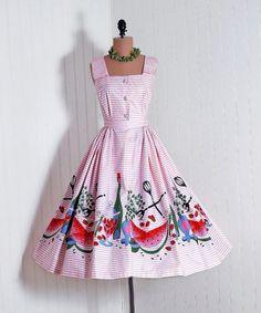 1950s watermelon dress