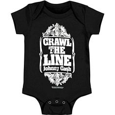 Johnny Cash Bodysuit Crawl The Line Infant Onesie 06 Months >>> You can find out more details at the link of the image.Note:It is affiliate link to Amazon.