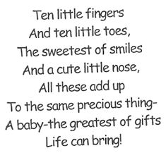 Ten Little Fingers Baby Card Quotes, Baby Shower Card Sayings, Baby Shower Cards, Baby Sayings, Baby Shower Quotes, Great Quotes, Me Quotes, Inspirational Quotes, Images Vintage