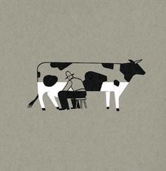 funny cow picture - don't know who drew it?! Let me know if you did it and I will credit.