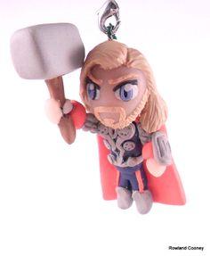 Thor - Marvel - Christmas Ornament - Necklace Pendant - Mini Sculpture