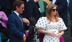 Princess Eugenie And Beatrice, Pregnant Princess, Wimbledon Tennis, Polka Dot Maxi Dresses, Tennis Championships, Pleated Maxi, Royal Fashion, British Royals, Lady
