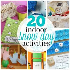 20 Fun Indoor Snow Day Activities