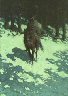 Sid Richardson Museum: A Figure of the Night (The Sentinel) by Frederic Remington