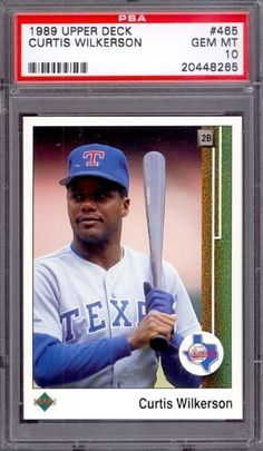 1989 Upper Deck #465 Curtis Wilkerson Rangers PSA 10 pop 9 by Upper Deck. $6.00. 1989 Upper Deck #465 Curtis Wilkerson Rangers PSA 10 pop 9. If multiple items appear in the image, the item you are purchasing is the one described in the title.