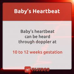 Know when you can hear the baby's heartbeat during gestation. --- #nclex…