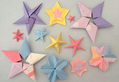Tutorial Estrellas de origami | Descargables Gratis para Imprimir: Paper toys, diseño, Origami, tarjetas de Cumpleaños, Maquetas, Manualidades, decoraciones fiestas y bodas, dibujos para colorear, tutoriales. Printable Freebies, paper and crafts, diy