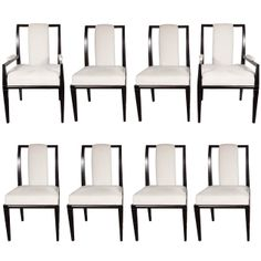 Elegant  Mid-Century Modernist Set of Eight Dining Chairs by Tommi Parzinger | From a unique collection of antique and modern dining room chairs at http://www.1stdibs.com/furniture/seating/dining-room-chairs/