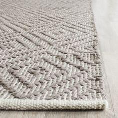 Safavieh Hand-Woven Montauk Grey/ Ivory Cotton Rug x