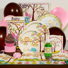 owl baby shower pink party perfect package for 8 free shipping pink owl baby shower ideas 600x600