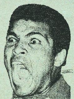 Muhammad Ali Pen and Ink. Muhammad Ali, Ink, Artwork, Work Of Art, India Ink