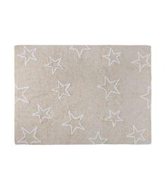 Stars Beige - White Silhouette