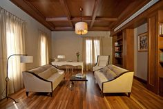 studio with modern classic furniture