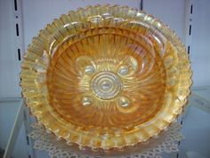 """Imperial Glass Marigold Carnival 9"""" Bowl"""