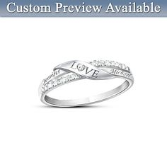 Love Personalized Diamond Ring  I have this ring--my husband gave it to me today...love it and HIM!
