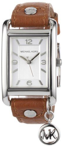 Michael Kors Women's MK2165 Leather Rectangle Charm Watch « AZ Gift Ideas