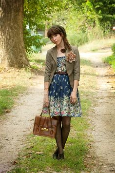 Romantic dress and blazer