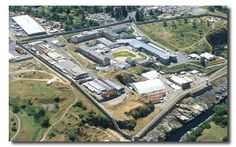 Aerial view of Folsom State Prison.