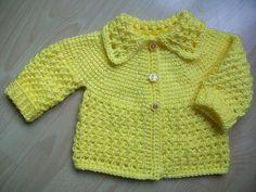 Ravelry: #3 yellow Tunisian Baby sweater pattern by Viola Jack