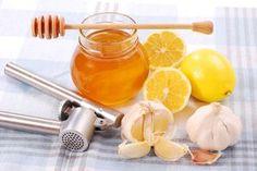 Catei de usturoi si miere de albine