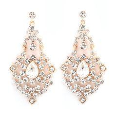 Capri Chandelier Earrings in Gold