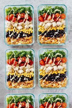 Meal Prep Southwest Chicken Burrito Bowls - Jar Of Lemons Lose weight & stay on budget with these healthy recipes for weight loss! Meal prep these healthy lunches and clean eating dinners ahead to save time & enjoy weight loss & lose belly Healthy Chicken Recipes, Lunch Recipes, Healthy Snacks, Healthy Eating, Dinner Recipes, Keto Recipes, Breakfast Recipes, Free Recipes, Soup Recipes