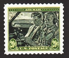 Flying the Air Mail into Chicago has never been easy. This 1938 20-cent stamp honored those who made the attempt.