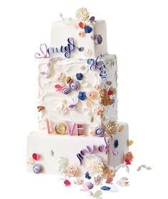Colorful Quilling Wedding Cake