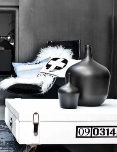 HK-living Kissen Baumwollstoff mit weiß / schwarzes Kreuz 45x45cm - Wonen met LEF!