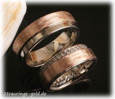 E-GA-D Hochzeitsring Trauring Edelstahl Rosegold vergoldet  Wunschgravur /& Box