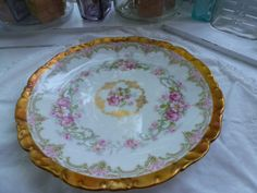 Antique Limoge G. Ahrenfeldt Made in France Plate by CurranStudios, $12.00