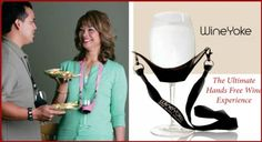 """Save $12.39 on """"WineYoke"""" Party Time Hand Free Wine Glass Holder Necklace - Set of 2 (PINK & BLACK); only $7.60"""