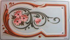 Pintura Tole, Art Nouveau, Sign Writing, Arte Popular, Ceramic Flowers, Wooden Art, Tole Painting, Painting Inspiration, Boho Decor