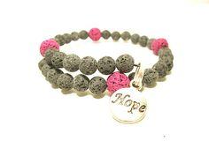 Lava Bead Bracelets Natural Lava Stone Beads Pink And Natural Beaded Wrap Bracelets, Beaded Jewelry, Handmade Jewelry, Jewelry Gifts, Pink Jewelry, Stone Jewelry, Jewlery, Vintage Jewelry, Bracelet Quotes