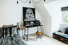 A cool workspace for the pop-culture geek or Star Wars fan!