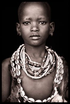 Young Hamar boy in Southern Omo - portrait from 'Ethiopia - Omo Black & White' by John Kenny