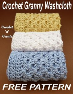 Crochet this washcloth in easy granny stitch, free crochet pattern. #crochetncreate, #freecrochetpatterns #crochetwashcloth
