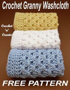 Crochet Granny Washcloth - Washcloth - Ideas of Washcloth - Crochet this washcloth in easy granny stitch free crochet pattern. Granny Square Häkelanleitung, Granny Square Crochet Pattern, Crochet Granny, Granny Squares, Blanket Crochet, Crochet Squares, Bag Crochet, Crochet Gifts, Free Crochet