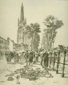 Henri Cassiers - Marché du Dyver, à Bruges