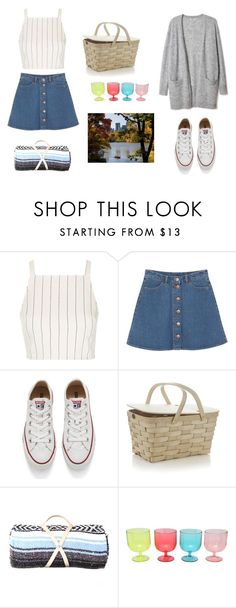 """""""Date Night at Central Park"""" by iamrosyrosalie on Polyvore featuring Topshop, Monki, Converse, Crate and Barrel, Nipomo and M&Co"""